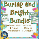 Burlap and Bright Room Decor Bundle