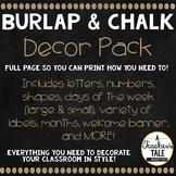 Burlap and Chalk Decor Bundle