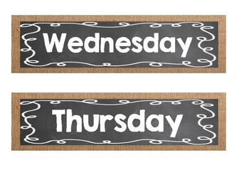 Burlap and Chalk Drawer Labels