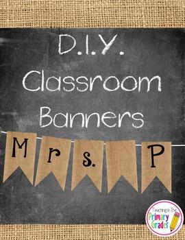 Burlap and Chalkboard Classroom Decor