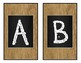 Burlap and Chalkboard Alphabet