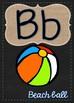 Chalkboard & Burlap Alphabet Posters