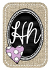 Burlap and Chalkboard Alphabet Posters with Pictures