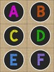 Burlap and Chalkboard - COLORFUL Room Decor Alphabet A-Z Capitals & Lowercase