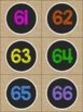 Burlap and Chalkboard - COLORFUL Room Decor NUMBERS 1-120