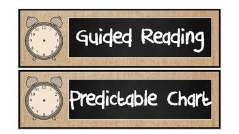 Burlap and Chalkboard Class Schedule