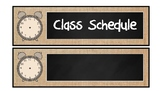 Burlap and Chalkboard Class Schedule