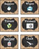 Burlap and Chalkboard Classroom Supply Labels