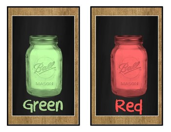 Burlap and Chalkboard Colors