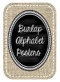 Burlap and Chalkboard Cursive Alphabet