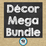 Burlap and Chalkboard Decor Mega Bundle