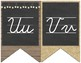 Burlap and Chalkboard - Farmhouse Chic Cursive Alphabet Bunting Banner
