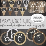 Burlap and Chalkboard - Farmhouse Chic Word Wall Posters a