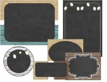Burlap and Chalkboard - Farmhouse Classroom Decor Editable Labels