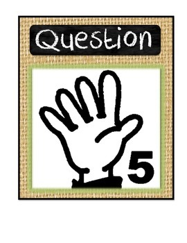 Burlap and Chalkboard Hand Signals