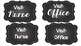 Burlap and Chalkboard Labels