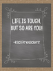 Burlap and Chalkboard Motivational Posters for Students