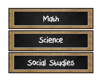 Burlap and Chalkboard Standards