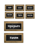 Burlap and Chalkboard Toolbox Inserts