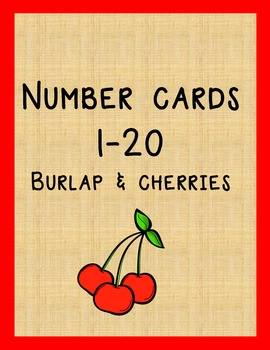 Burlap and Cherries Number Set