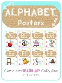 Burlap and Dots Alphabet Posters