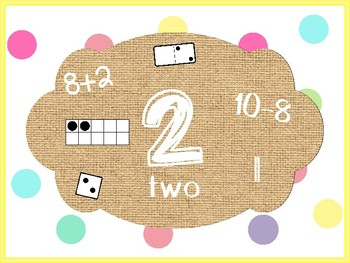 Burlap and Dots Number Posters