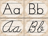 Burlap and Lace Alphabet Cards / Banner / Posters (Print a