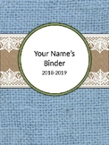Burlap and Lace Binder Covers and Sections