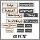 Burlap and Lace Calendar Prep