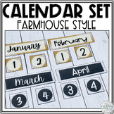 Classroom Calendar Set (Farmhouse/Shabby Chic)