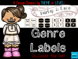 Burlap and Lace Classroom Library Book Labels *Editable