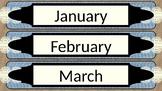 Burlap and Lace Month Labels