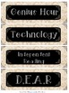 Burlap and Lace Schedule Cards *EDITABLE