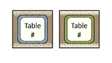 Burlap and Lace Table Labels