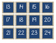 Burlap and Navy Calendar, Weather and Focus Board Set
