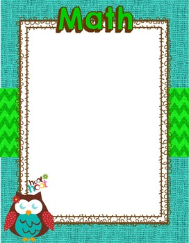 Burlap and Owls Theme Objective Posters ***editable***