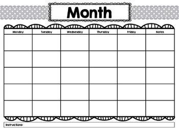 Burlap and Polka Dot Behavior Chart System *editable*