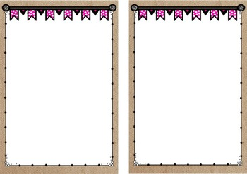 Burlap and Polka Dot Labels and Posters  *editable*