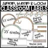 Burlap and Shiplap Classroom Labels Fully Editable
