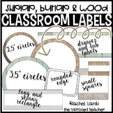 Farmhouse Burlap and Shiplap Classroom Labels * Editable *
