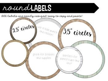 Farmhouse Burlap and Shiplap Classroom Labels * Editable *