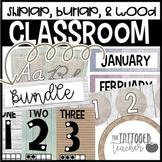 Farmhouse Burlap and Shiplap Classroom decor BUNDLE