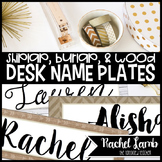 Burlap and Shiplap Desk Name Plates, Labels {Farmhouse Chic}