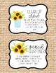 Burlap and Sunflower Class Jobs Chart