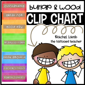 Burlap and Wood Clip Chart management tool