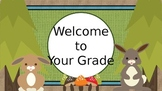 Burlap and Woodland Critters Back to School Bundle
