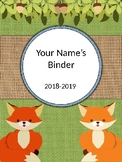 Burlap and Woodland Critters Binder Covers