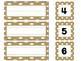 Burlap and white polka-dots Classroom set