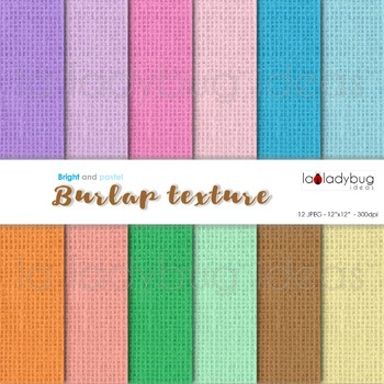 Burlap texture, bright and soft colors digital papers. Wallpapers. Backgrounds.