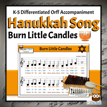 Hanukkah Song to Read, Sing, & Play, K-5 Activities for Classroom or Programs